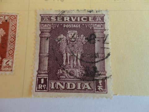 India Offical Asoka Pillar Service Postage Stamps