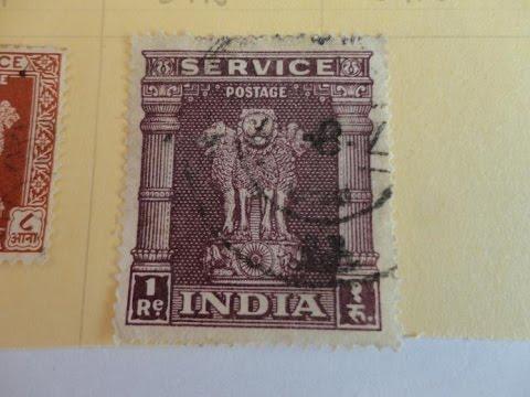 India Offical Asoka Pillar Service Postage Stamps