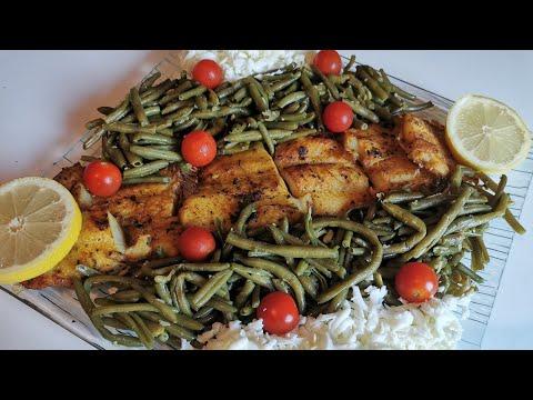 ~poisson-au-four-haricots-verts-~-allégé-en-graisses,-riche-en-protéines-|recettes-&-diététique