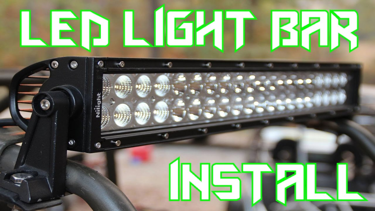 maxresdefault go kart led light bar install (nilight) youtube Wiring Harness Diagram at nearapp.co