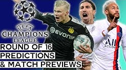 Champions League 2019-20 Round of 16 Predictions and Previews | All Matchups!