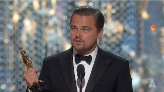 Leonardo DiCaprio winning Best Actor thumbnail
