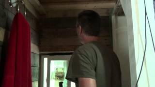 Pallet Wood Bathroom Paneling & The Ultimate Off Grid Alarm System