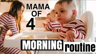 My Morning Routine with Triplets and a Toddler | Mama of Four Kids 3 and Under