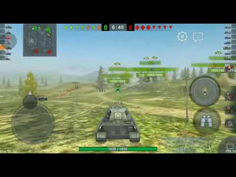 World of Tanks Blitz platoon with Tiger II & STA-1