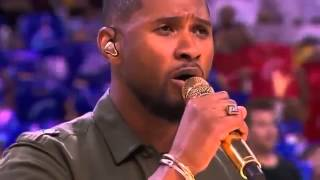 Usher Sings the National Anthem | Warriors vs Cavaliers | Game 4 | June 11, 2015 | 2015 NBA Finals