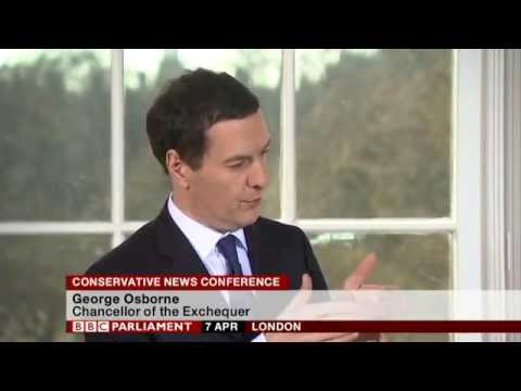 Conservative News Conference in London, 7th April 2015