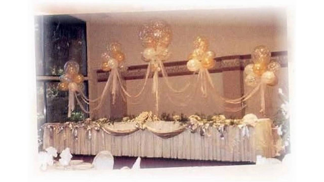 Wedding decorations with balloon youtube junglespirit Images