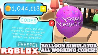 ALL *NEW* WORKING BALLOON SIMULATOR CODES!!! (ROBLOX)