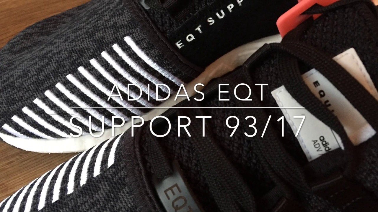 detailed look 4a341 552c2 Adidas EQT Support 9317 BOOST (Equipment) - Unboxing  On Feet HD