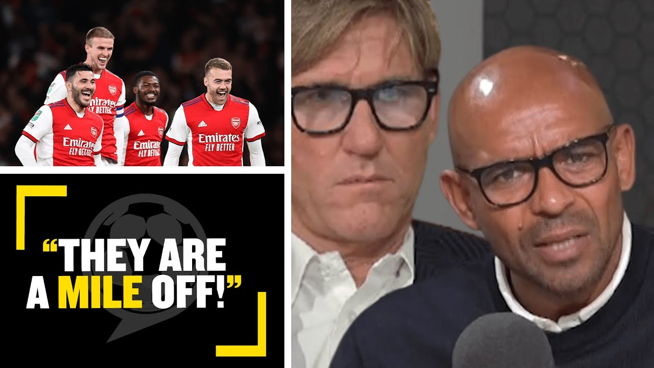 """Download """"THEY ARE A MILE OFF!""""👎 Simon & Trevor have differing opinions on Arsenal's progress this season"""