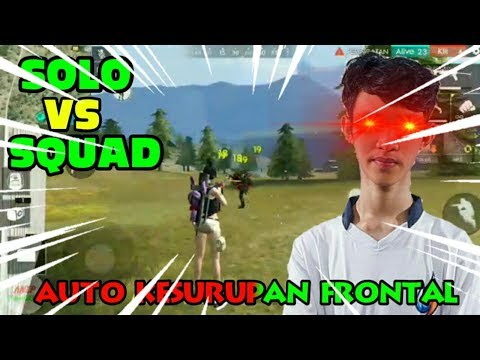 SOLO VS SQUAD NO SKIN SENJATA  - Free Fire Indonesia