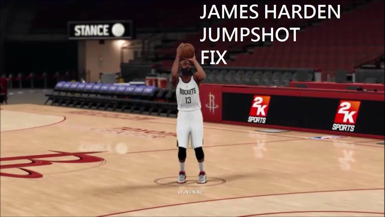 2k16 James Harden Jumpshot Fix - YouTube