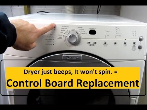 Dryer Won T Start Control Board Replacement Youtube
