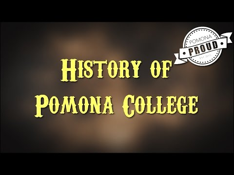 Pomona College 1885, Pomona History Pomona College, Pomona College Started In Pomona
