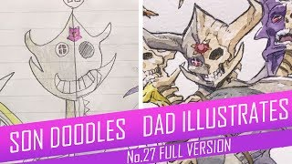DRAWING with my kids - HALF-DEAD DEMON LORD [FULL VERSION] No.27