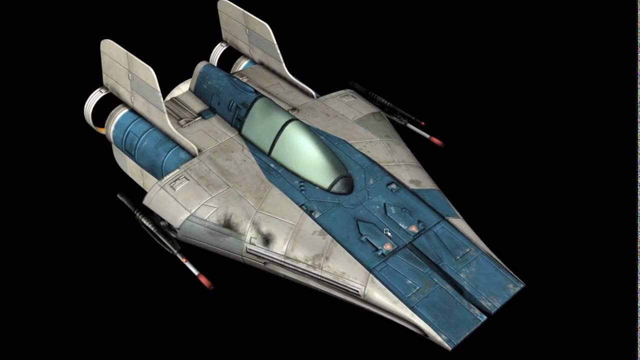 star wars rz 1 a wing interceptor starfighter 3d model blue version youtube. Black Bedroom Furniture Sets. Home Design Ideas