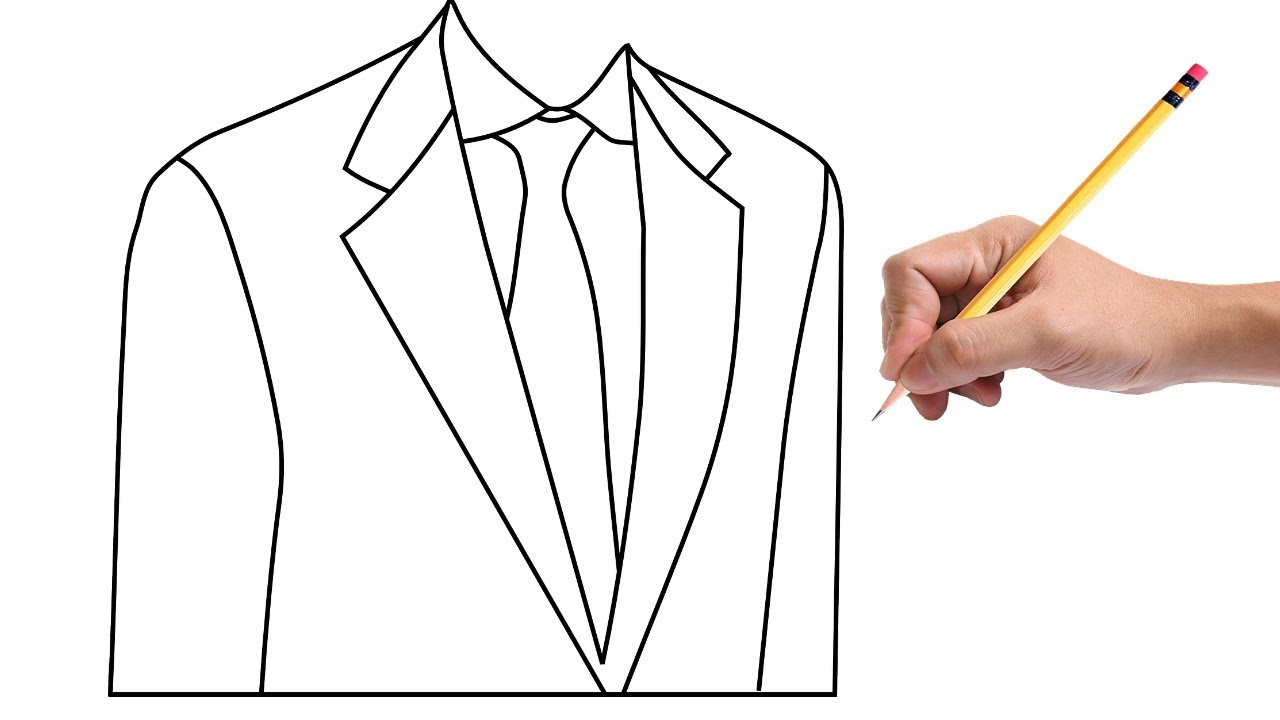 How to Draw a Suit Easy