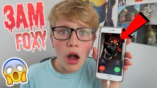 FOXY CALLED ME AT 3AM ON FACETIME! *HE BROKE INTO MY HOUSE!* (GHOST!)