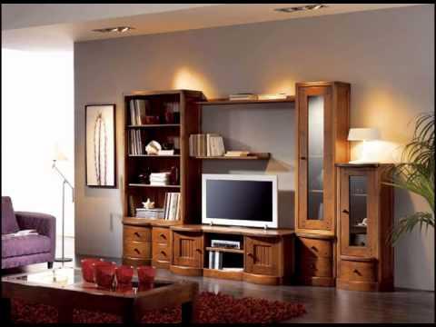 Muebles de salon y de dormitorio en madera youtube - Muebles de salon modulares de madera ...