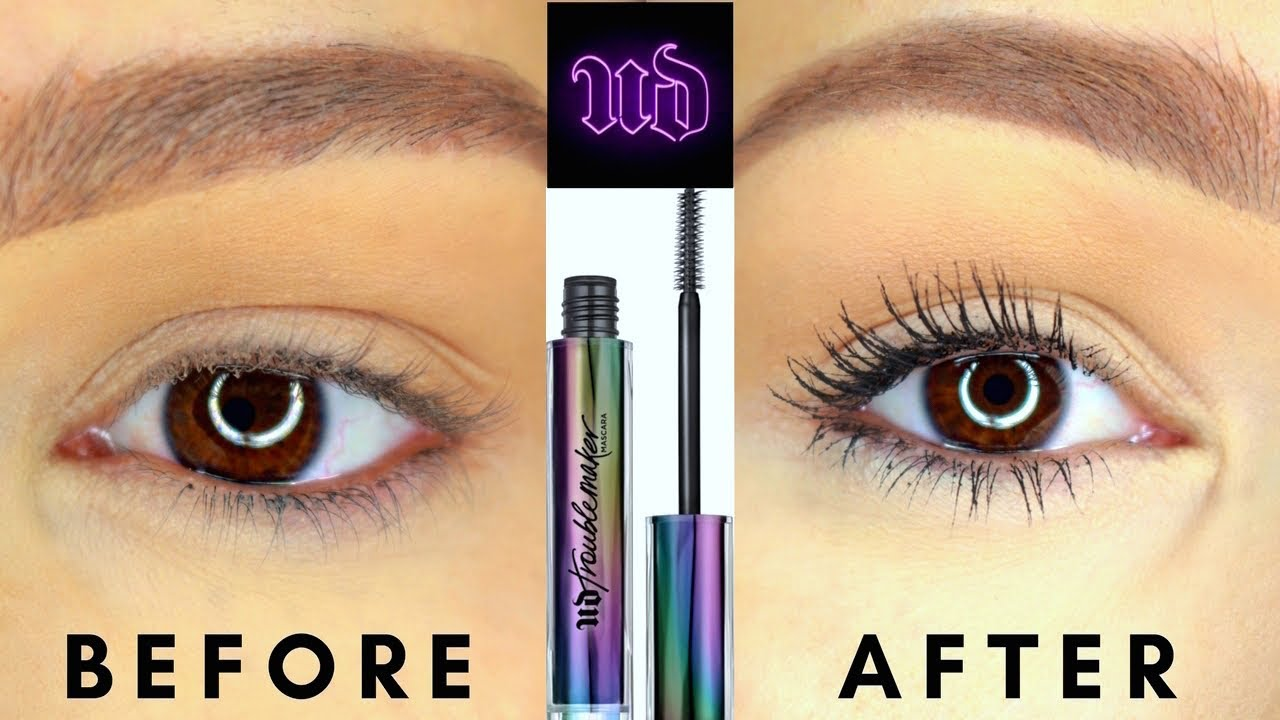 745750635aa URBAN DECAY TROUBLEMAKER MASCARA REVIEW - YouTube