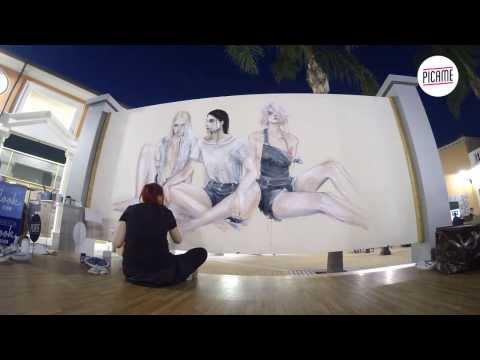 The Art of Denim Live Art La Reggia Designer Outlet 2013
