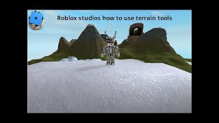 Roblox studios how to use terrain tools