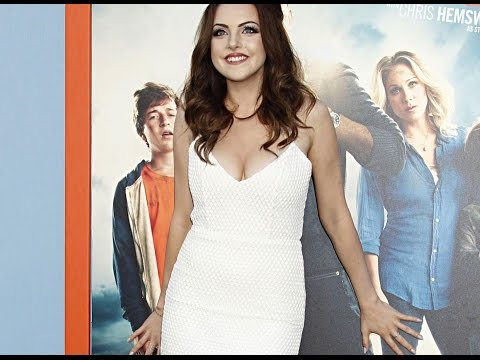 Elizabeth Gillies In Half White Dress For Vacation Premiere