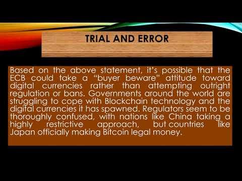 European Central Bank ECB Considering Bitcoin Regulation