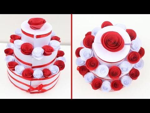 How to Make Birthday Cake for Explosion Box | DIY Paper Cake Tutorial | Birthday Surprise Gift