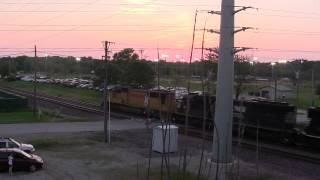 UP Ringling Bros. Circus Train Through Cedar Rapids, IA
