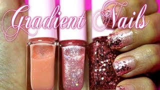 Easy Gradient Nails (Juice Cocktail gradation Nails) * ETUDE HOUSE *