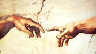 Art in the Sistine Chapel - Michaelangelo's Creation of Adam - Man and God