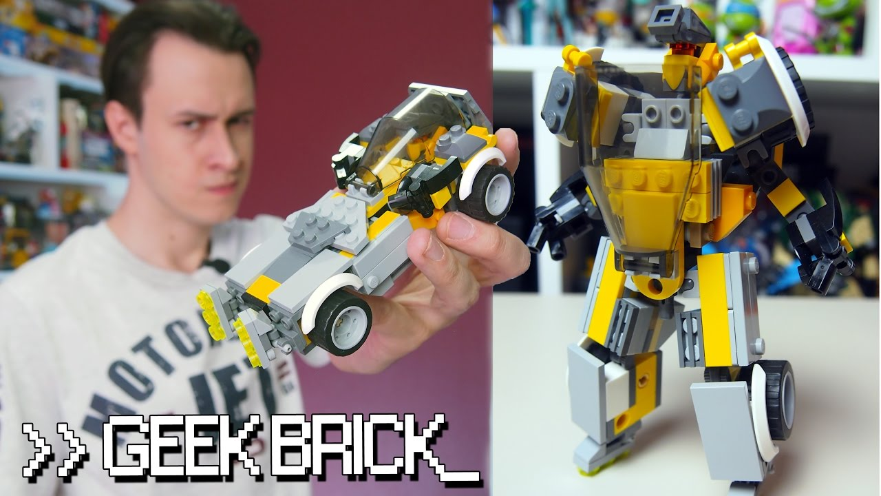 #GeekBrick Самоделка реальный LEGO-трансформер / MOC Real Lego Transformer