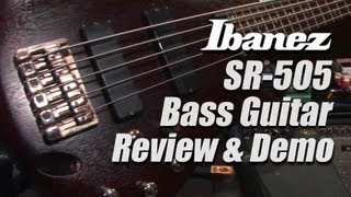 ibanez sr505 bass review demo