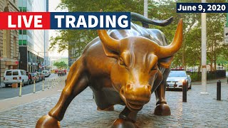 Watch Day Trading Live - June 9, NYSE & NASDAQ Stocks