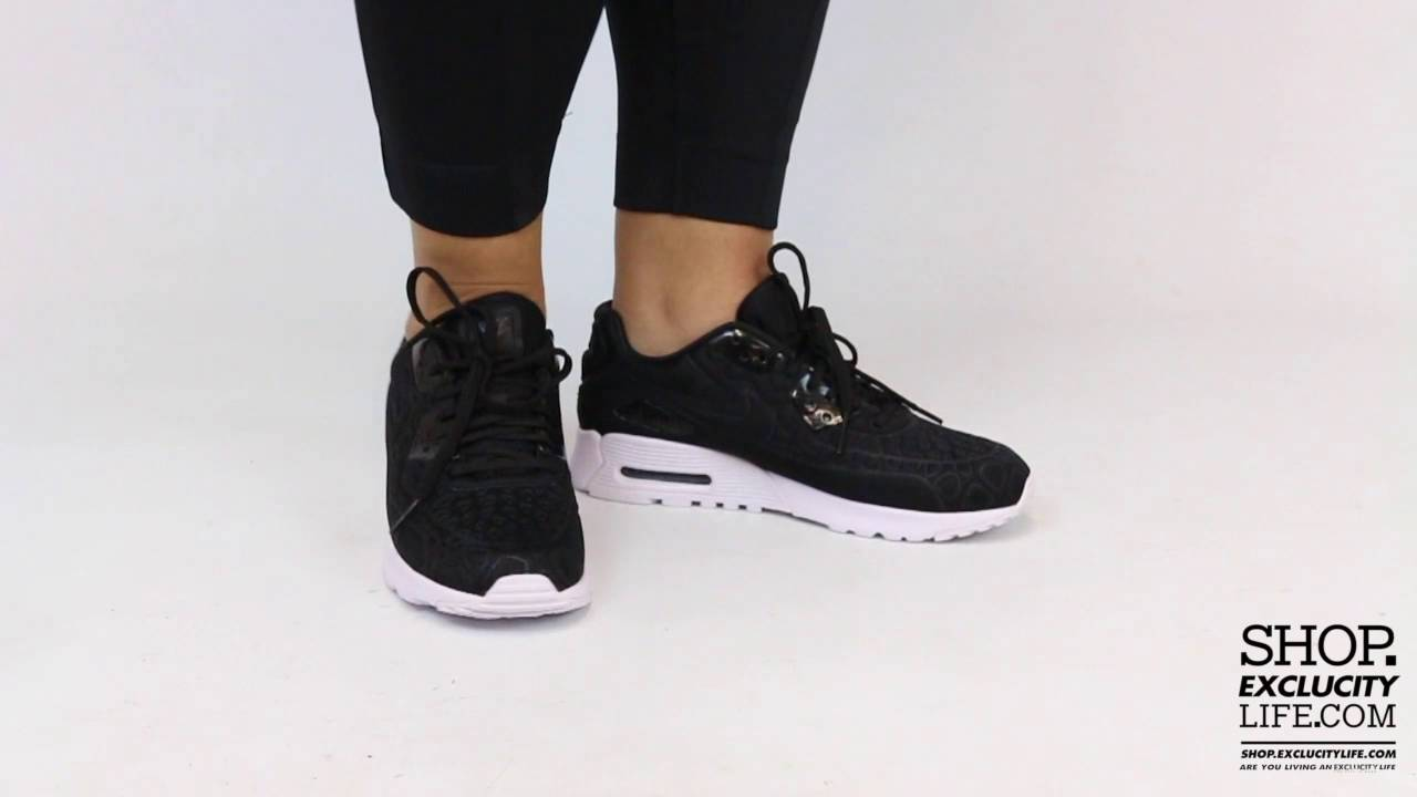 65d90edfcf ... cheapest womens nike air max 90 ultra plush se black white on feet video  at exclucity
