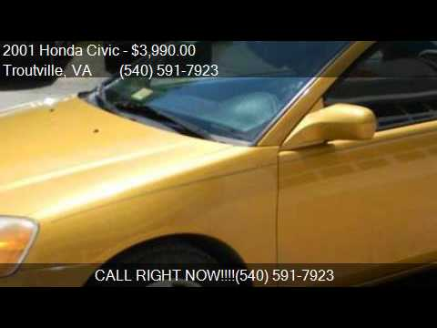 2001 Honda Civic EX 2dr Coupe for sale in Troutville, VA 241