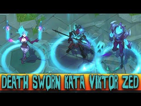DEATH SWORN KATARINA VIKTOR ZED - All 3 New Harrowing Skins 2017 ...