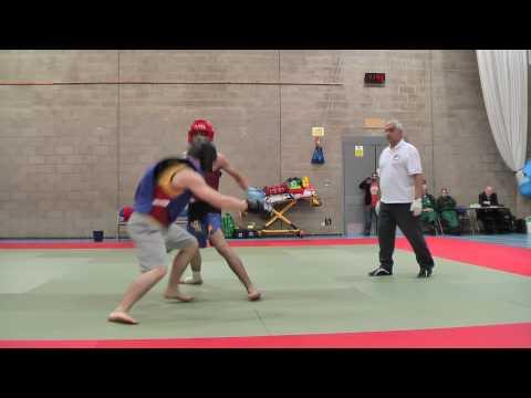 Luke Kyriakides, Junior Final 60-65kg  - First Round, UK Sanshou Champs, May 2nd 2010