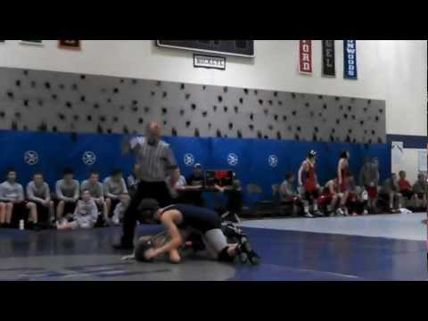2012-12-8 Glen Este Middle School Dual - 116 pounds Match 2_1 Pin (Nagel vs Edgewood)
