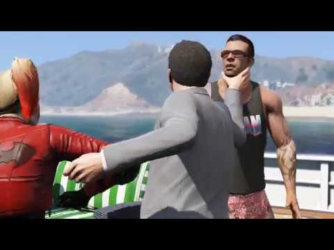 GTA 5 - Modded Cutscenes - Harley Quinn replaces Tracey