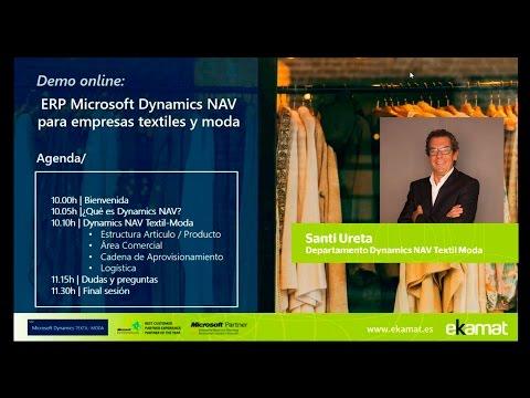 Demo online del software para la distribución de textil y moda basado en Dynamics NAV