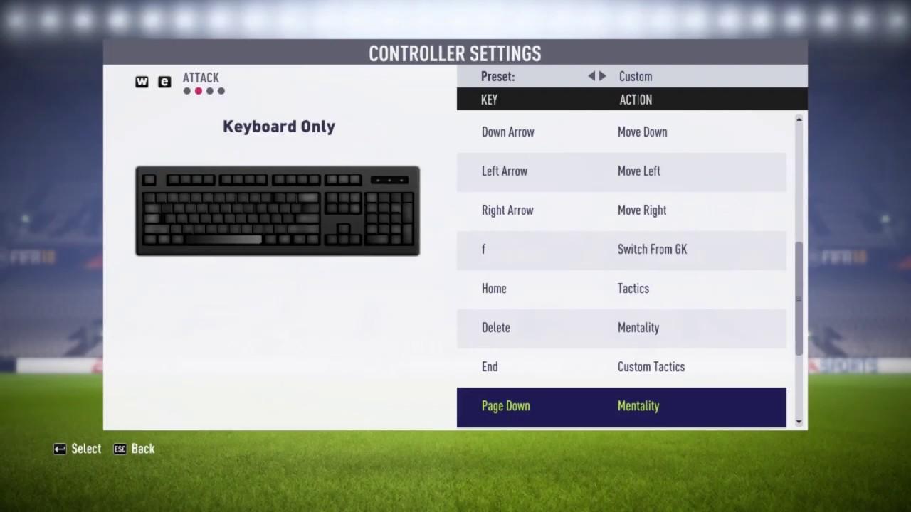 FIFA 18 || Keyboard Controller Setting Like PES