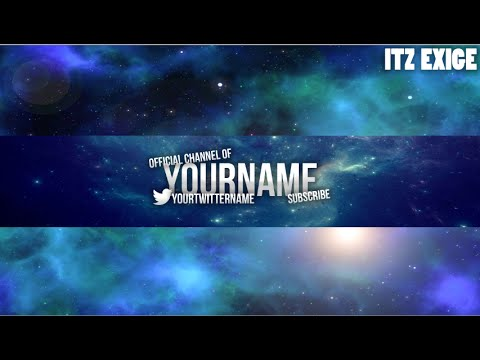 Youtube Banner Channel Art 2016 Template Psd Free Youtube