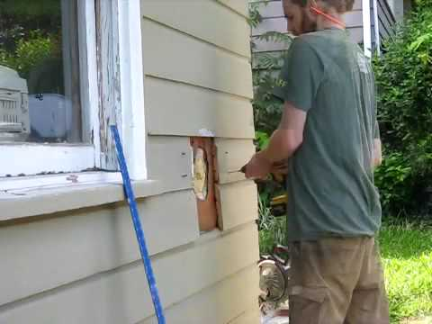 Patching A Hole In The Siding Youtube