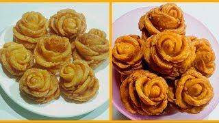 Sweet Rose Recipe   Gulab Pitha   Golap Pitha   Famous Bengali Pitha   Rose Pitha   Sweet Recipe
