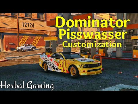 Grand theft auto 5 vapid dominator pisswasser customization first person view xbox one