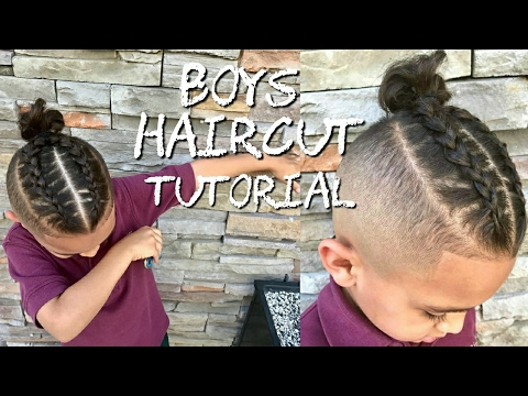 Barber Tutorial Kids Haircut Faded Boy Bun To Cornrows Youtube