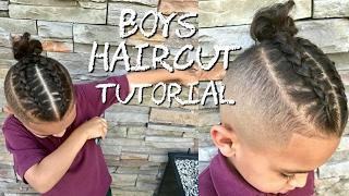 Barber Tutorial   Kids Haircut FADED BOY BUN to cornrows!